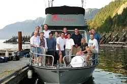 Mandy-Rae and support team on board the Sea Dragon